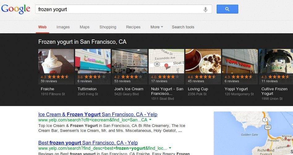 google carousel How to Optimize for Carousel   Googles New Local Search