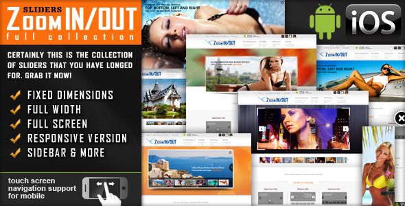 jquery slider zoom in out 12 Premium Responsive jQuery Sliders