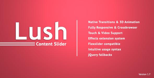 lush 12 Premium Responsive jQuery Sliders