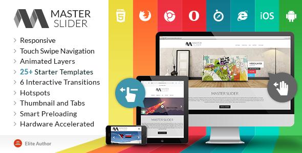 master slider 12 Premium Responsive jQuery Sliders