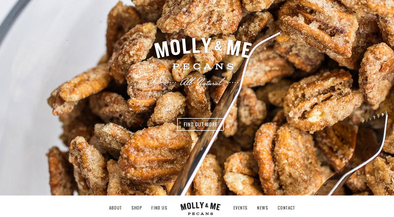 molly and me pecans Best Website Designs of 2013
