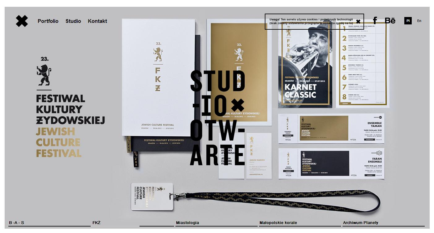 studio otwarte Best Website Designs of 2013