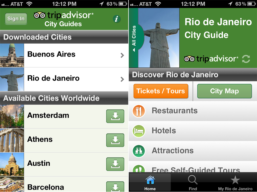 tripadvisor offlinecityguides v24 screen1 2large1 Best Free Apps for Business Travelers