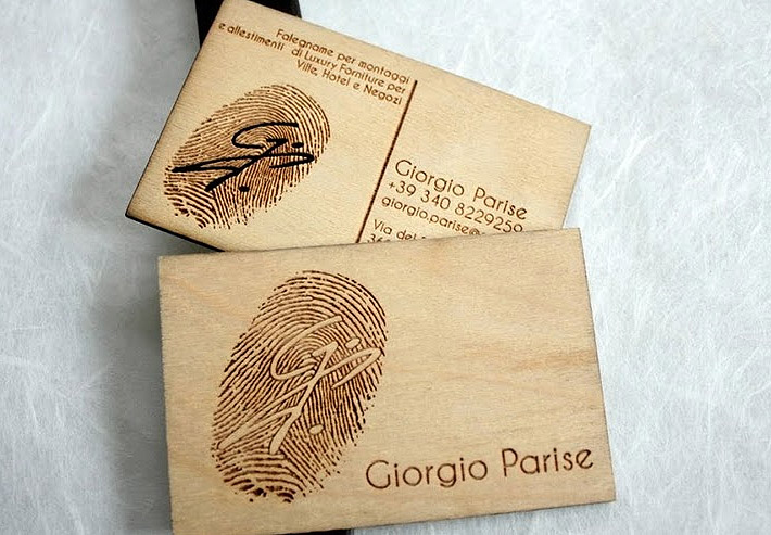unique business card giorgio parise1 Top 6 Business Card Innovations That You Can Use Today