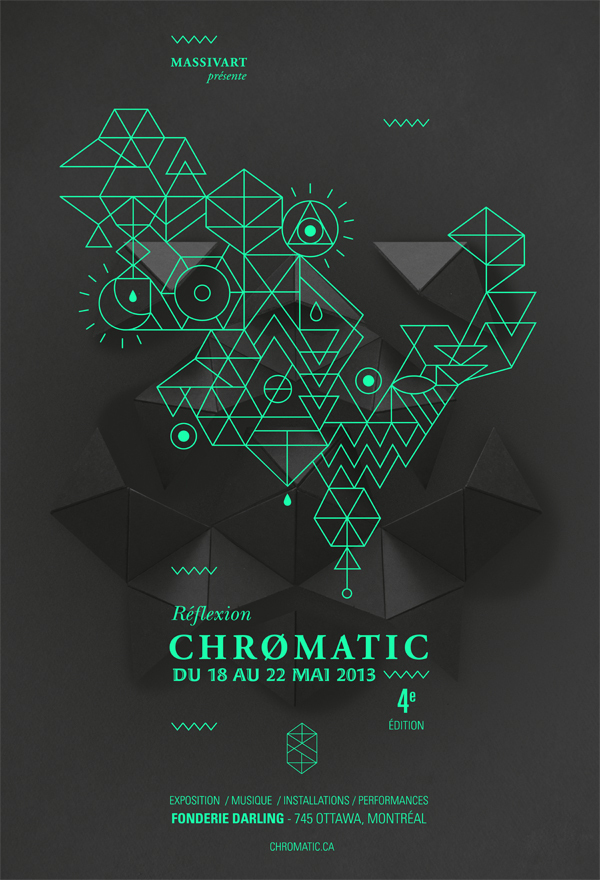 Festival Chromatic 2013 - Poster by Emilie Thibaut