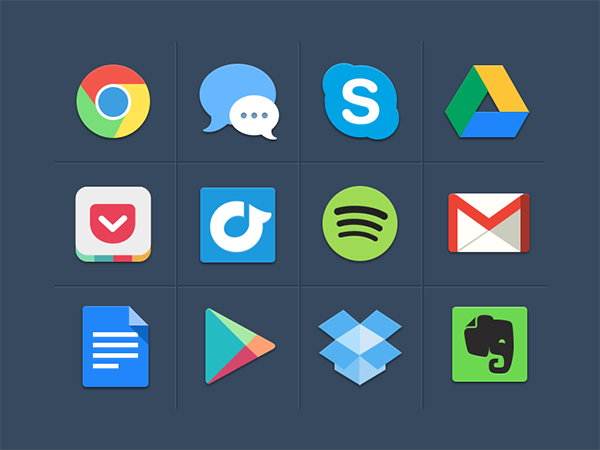 11 free colorful icons Top 40 Must Have Social Media Icon Sets from 2013