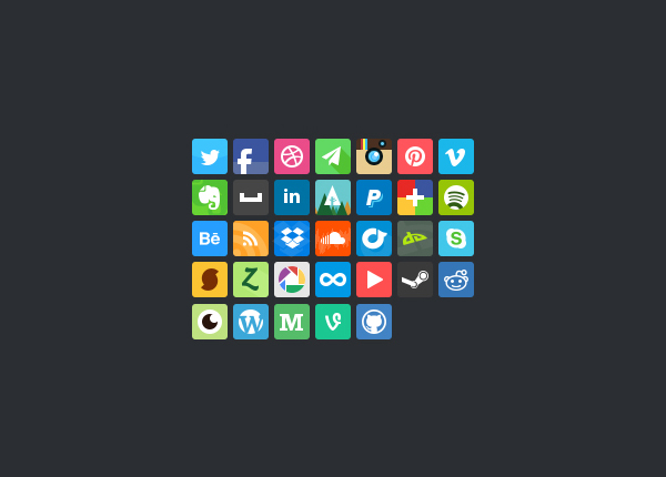 2 bean social media icon set Top 40 Must Have Social Media Icon Sets from 2013