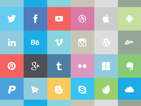 3 flat icon set Top 40 Must Have Social Media Icon Sets from 2013