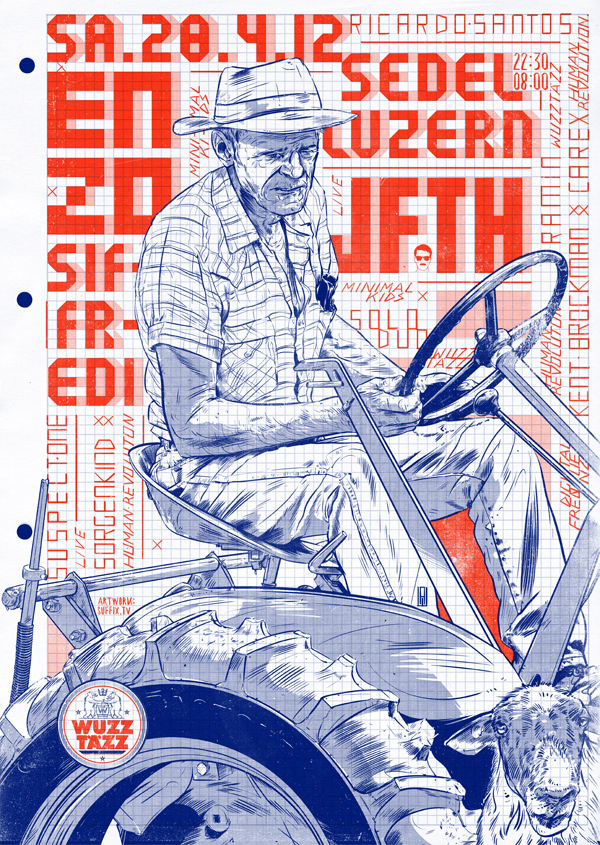 45 enzo211 45 Creative Gig Poster Designs