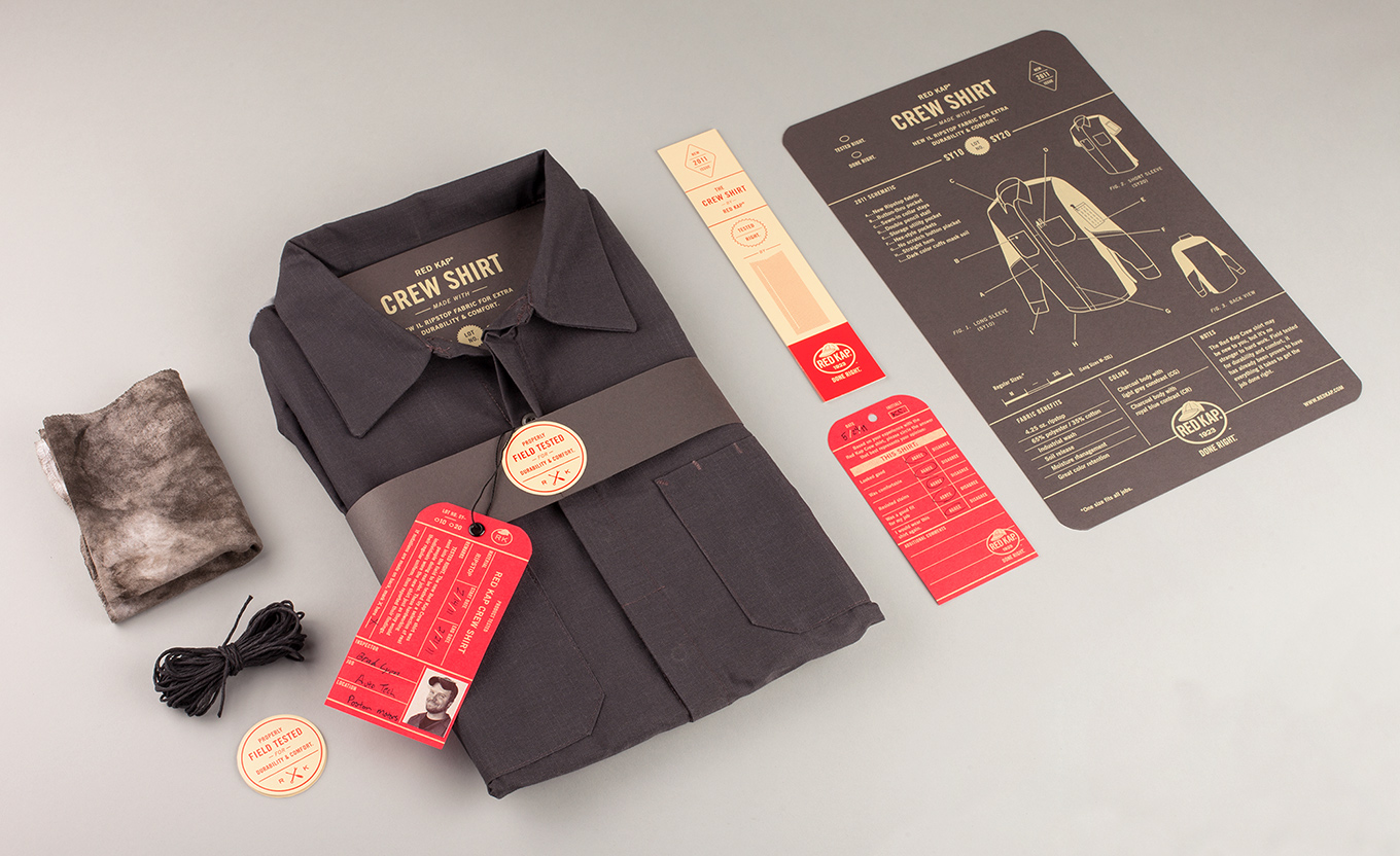 Red Kap Crew Shirt Packaging by Perky Bros