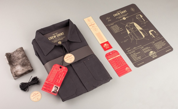 Red Kap Crew Shirt Packaging by Perky Bros