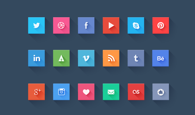 6 social icons Top 40 Must Have Social Media Icon Sets from 2013