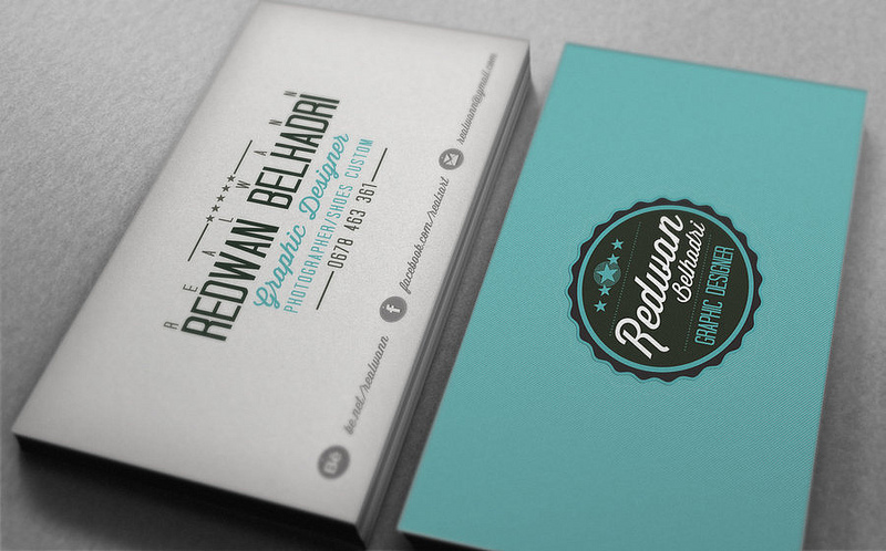 25 beautiful vintage style business card designs inspirationfeed redwan belhadri reheart Image collections