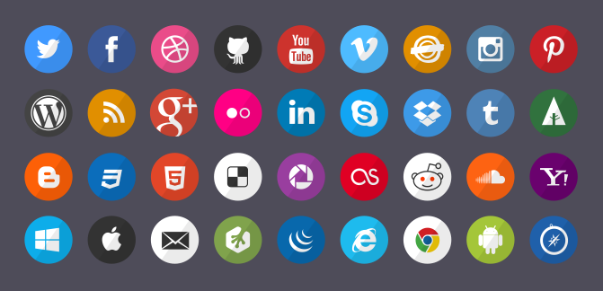 8 tink tank social media icons Top 40 Must Have Social Media Icon Sets from 2013