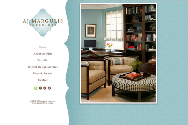 aj margulis interiors website 33 Clean, Minimalist, and Simple Interior Design Websites