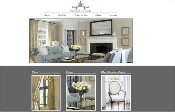 amy studebaker design website 33 Clean, Minimalist, and Simple Interior Design Websites
