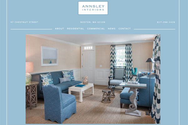 annsley interiors website 33 Clean, Minimalist, and Simple Interior Design Websites