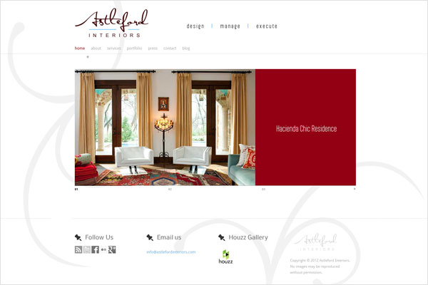 astleford interiors website 33 Clean, Minimalist, and Simple Interior Design Websites