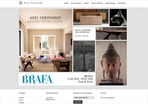 axel vervoordt portfolio website 33 Clean, Minimalist, and Simple Interior Design Websites