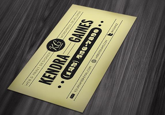 bcardmock1 25 Beautiful Vintage Style Business Card Designs