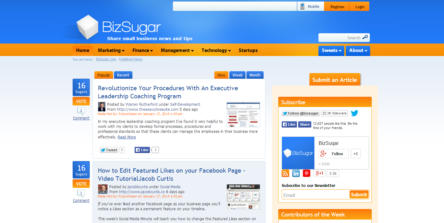 bizsugar 6 Tools to Help you to get More Traffic