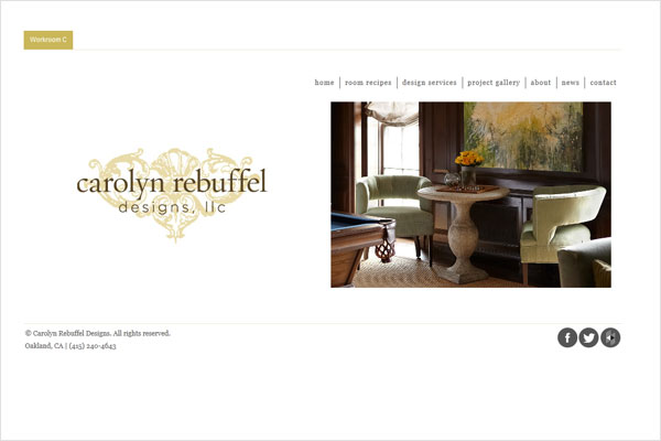 carolyn rebuffel portfolio site 33 Clean, Minimalist, and Simple Interior Design Websites