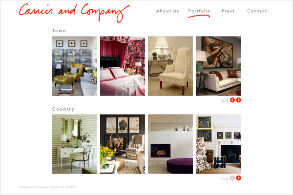 carrier and company interiors website 33 Clean, Minimalist, and Simple Interior Design Websites