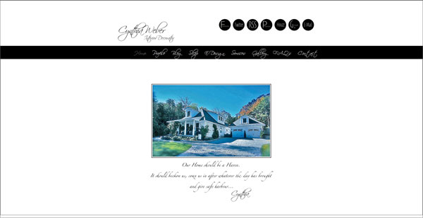 cynthia weber portfolio page 33 Clean, Minimalist, and Simple Interior Design Websites