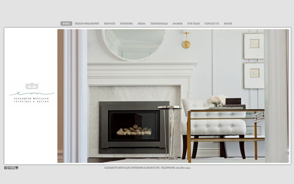 elizabeth metcalfe interiors design portfolio 33 Clean, Minimalist, and Simple Interior Design Websites