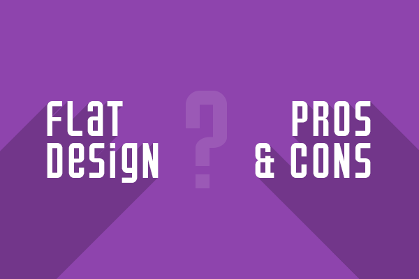 flat design pros and cons1 The Pros and Cons of Flat Web Design