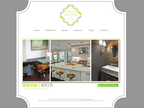 holly bender website 33 Clean, Minimalist, and Simple Interior Design Websites