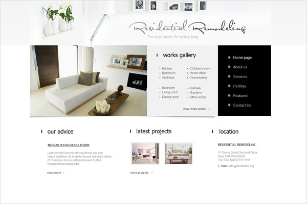 interior design agency website 33 Clean, Minimalist, and Simple Interior Design Websites