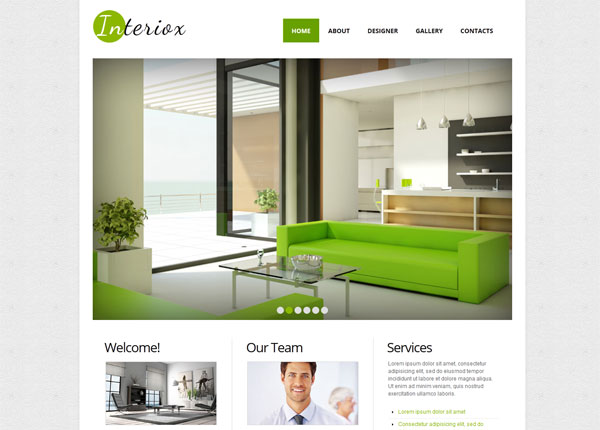interior design studio webpage 33 Clean, Minimalist, and Simple Interior Design Websites