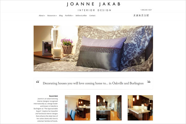 Joanne Jakab Interior Design Website