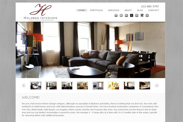 julie holzman portfolio 33 Clean, Minimalist, and Simple Interior Design Websites