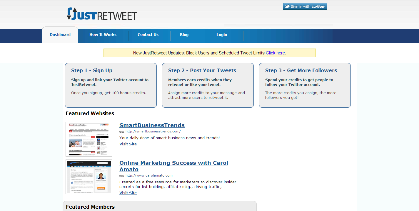 justretweet 6 Tools to Help you to get More Traffic