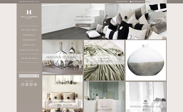 kelly hoppen portfolio 33 Clean, Minimalist, and Simple Interior Design Websites