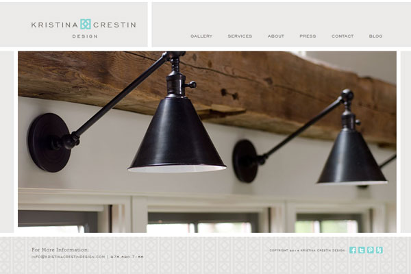 kristina crestin portfolio website 33 Clean, Minimalist, and Simple Interior Design Websites
