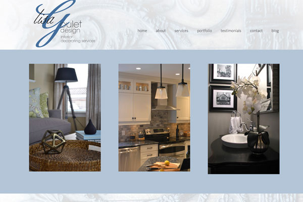 lisa goulet website 33 Clean, Minimalist, and Simple Interior Design Websites