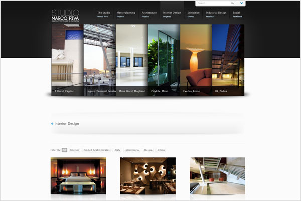 marco piva studio website 33 Clean, Minimalist, and Simple Interior Design Websites
