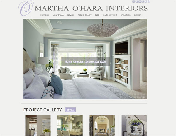 martha ohara interiors website 33 Clean, Minimalist, and Simple Interior Design Websites