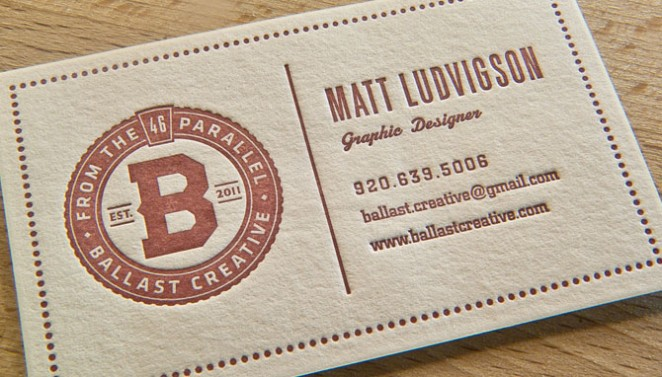 matt ludvigson business cards 3 662x3771 25 Beautiful Vintage Style Business Card Designs
