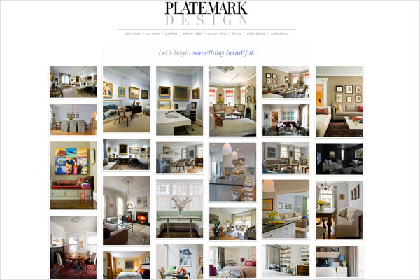 platemark design website 33 Clean, Minimalist, and Simple Interior Design Websites