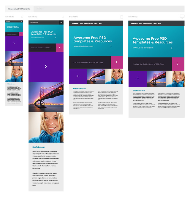 responsive psd shot1 Getting Your Design Priorities Right in 2014