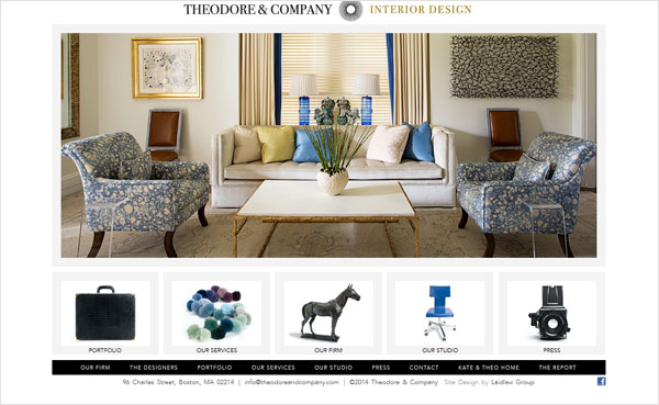 theodore company interio design portfolio 33 Clean, Minimalist, and Simple Interior Design Websites