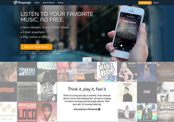 try rhapsody com59931 Top 5 Best Music Streaming Services