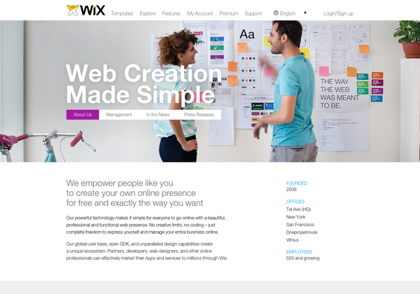 www wix com68031 How to Create a Stellar About Us Page