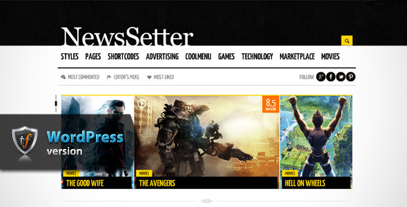 NewsSetter - News WordPress Theme