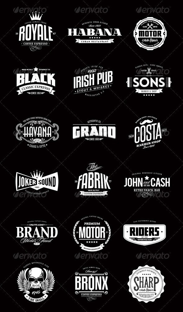 13 Vintage Logo Bundles for Your Designs | Inspirationfeed