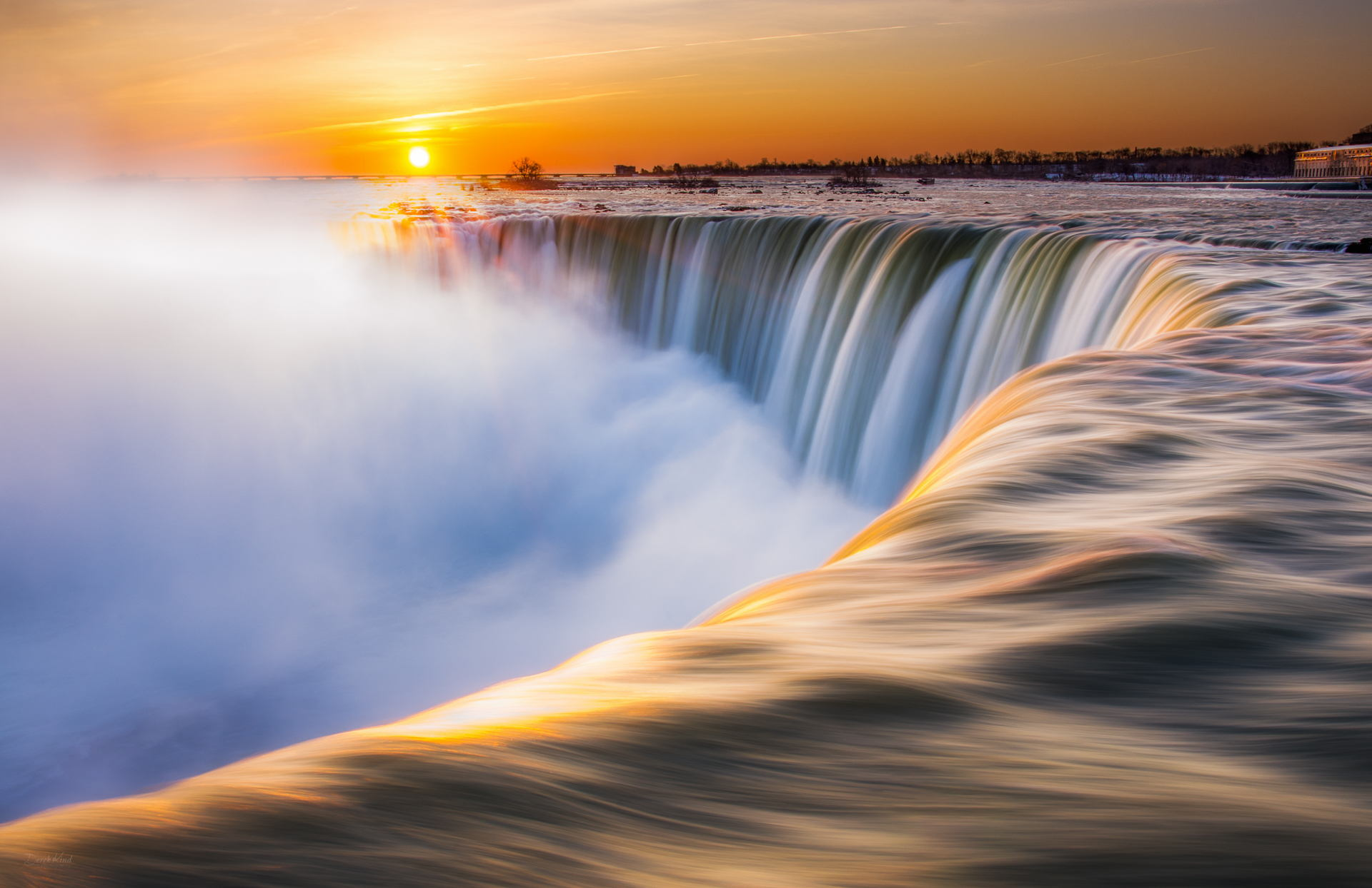 Morning at the Falls by Derek Kind
